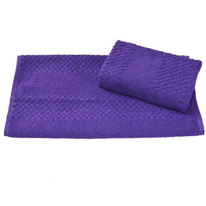 Полотенце махровое гладкокрашеное 30×60 см 360 г/м2, фиолетовый, 100% хлопок
