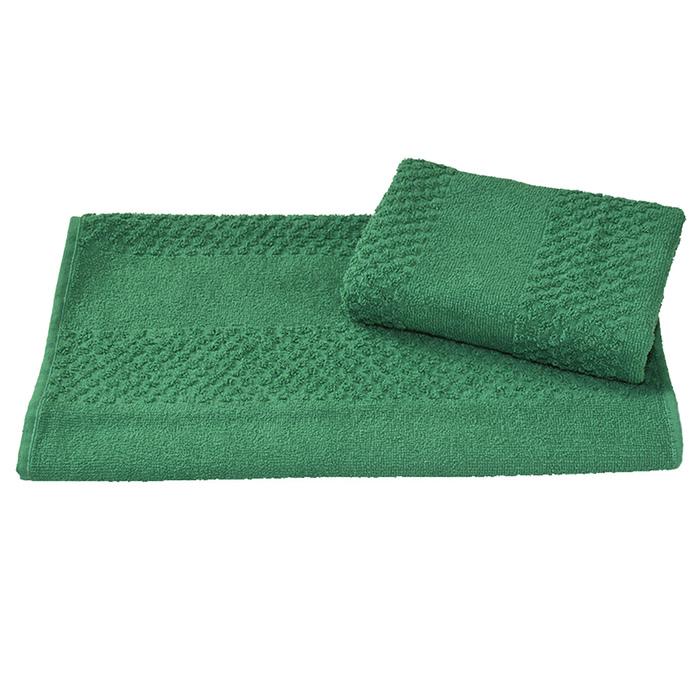 Полотенце махровое гладкокрашеное 30х60 см, зеленый, хлопок 100%, 360 г/м2