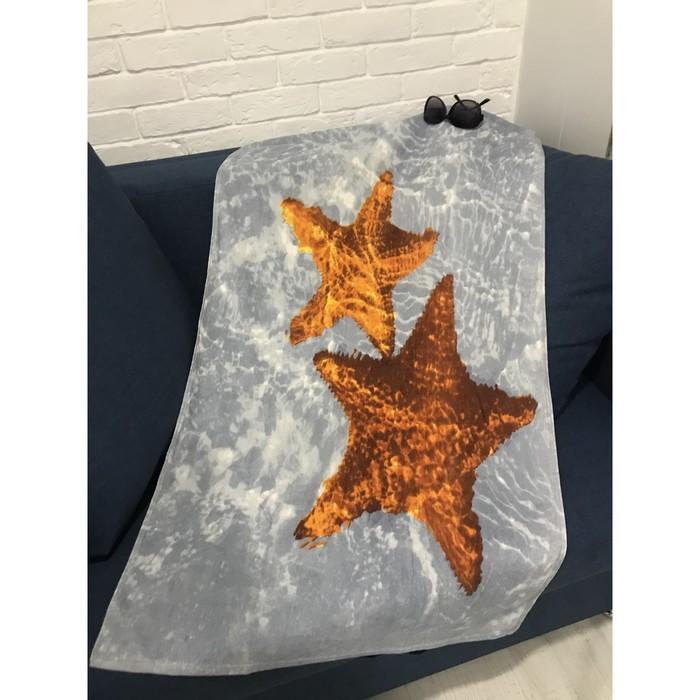 Полотенце пляжное махровое ПАВЛИНА Морские звёзды 70х140 см, хлопок 100%   4284364