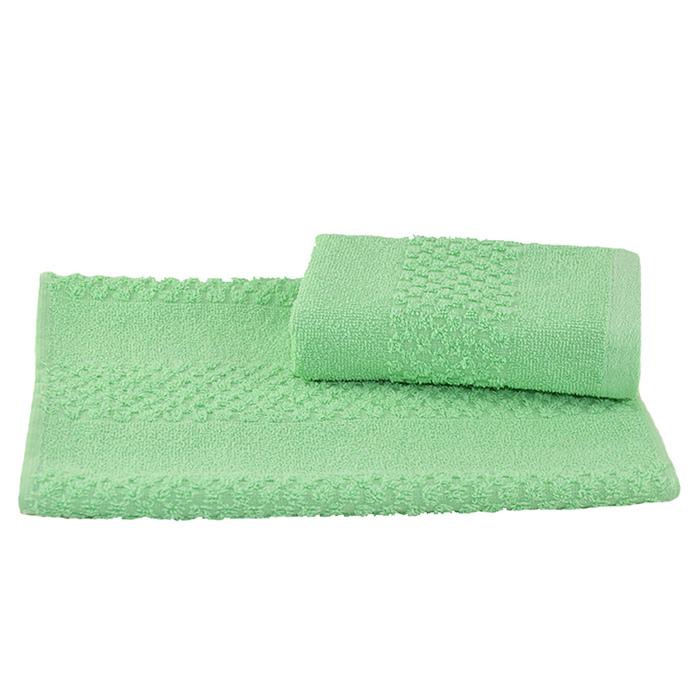 Полотенце махровое гладкокрашеное 30×60 см 360 г/м2, мятный, 100% хлопок