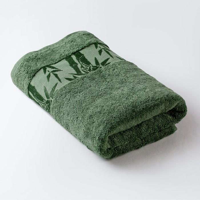Полотенце «Бамбук», размер 50 × 90 см, зелёный