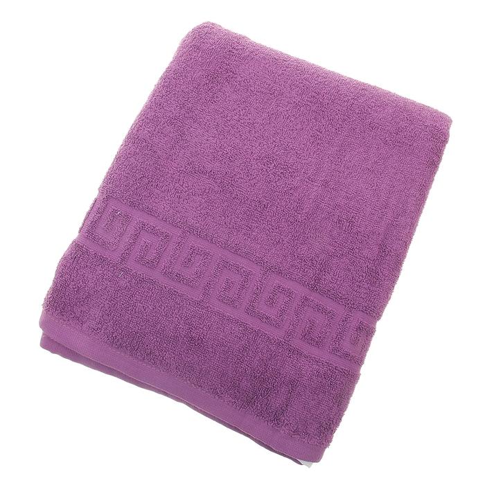 Полотенце махровое однотонное Антей 70х140 см, темно-фиолетовый, 100% хлопок, 430 гр/м2