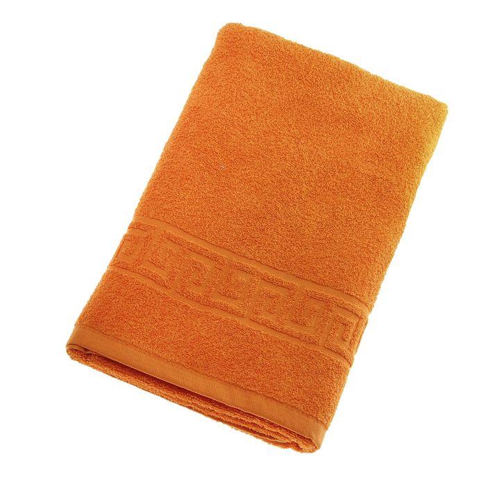 Полотенце махровое однотонное Антей цв оранжевый 70*140см 100% хлопок 430 гр/м2