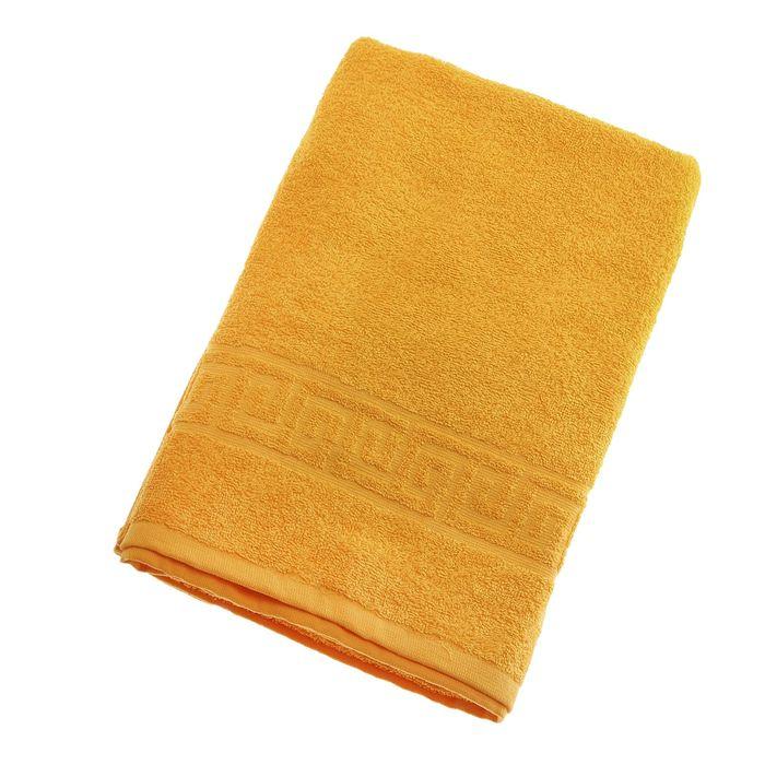 Полотенце махровое однотонное Антей цв желтый 70*140см 100% хлопок 430 гр/м2