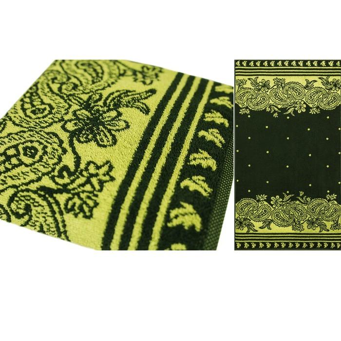 Полотенце махровое Privilea Алания 50х90 см, зелёный, хлопок 100%, 498 г/м2