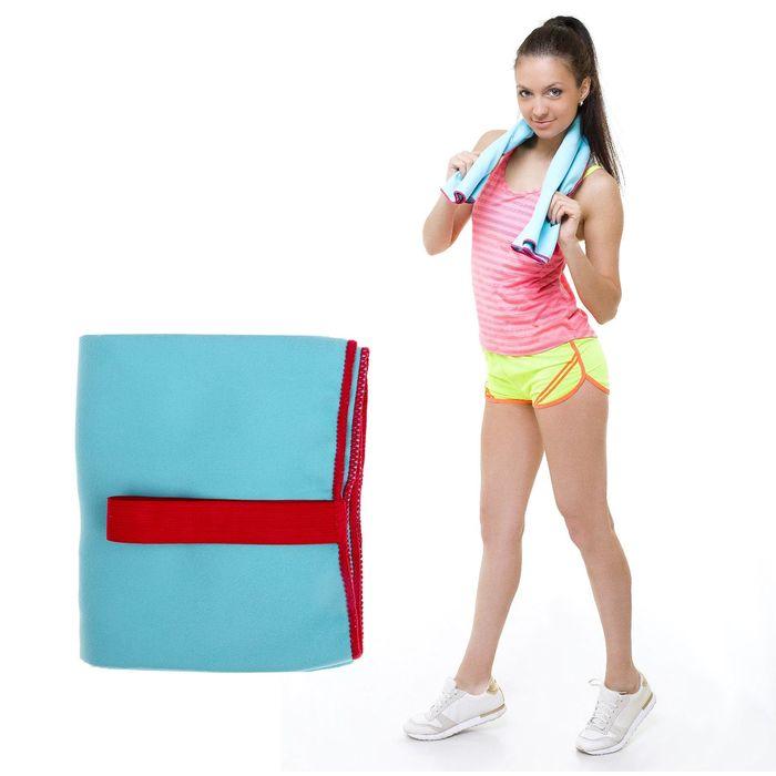 Спортивное полотенце ONLITOP, размер 80х130 см, голубой, 200 г/м2
