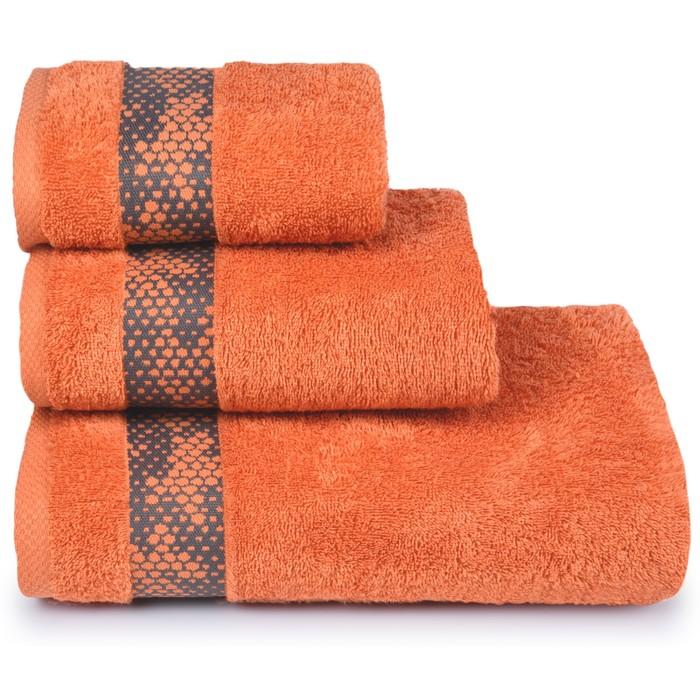 Полотенце махровое Element 70х130 см, 16-1338 оранжевый, хлопок 100%, 390 гр/м2
