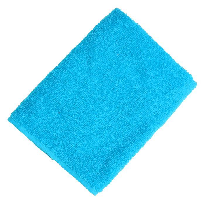 """Полотенце махровое """"Экономь и Я"""" 30*60 см голубой, 100% хлопок, 340 г/м2"""