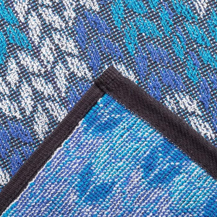 Полотенце махровое пестроткань 30×70 см 400 г/м2, мультиколор 3/1, 100% хлопок