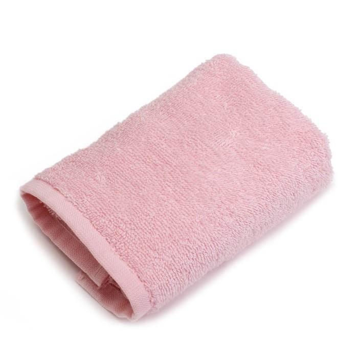 """Полотенце махровое """"Экономь и Я"""" 30х60 см, розовый 100% хлопок, 340 г/м²"""