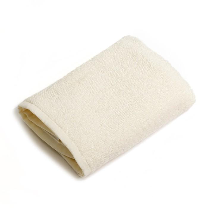 """Полотенце махровое """"Экономь и Я"""" 100х150 см молочный, 100% хлопок, 340 г/м²"""