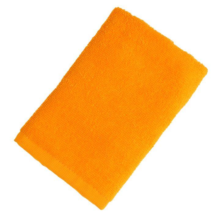 """Полотенце махровое """"Экономь и Я"""" 30*60 см оранжевый, 100% хлопок, 340 г/м2"""