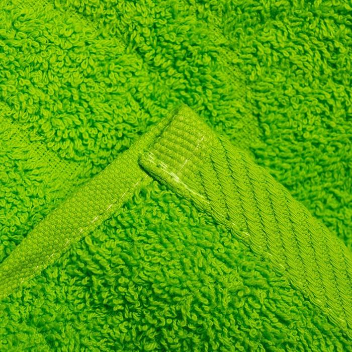 Полотенце махровое жаккард 70х140 см,салатовый, хлопок 100%, 420 г/м2