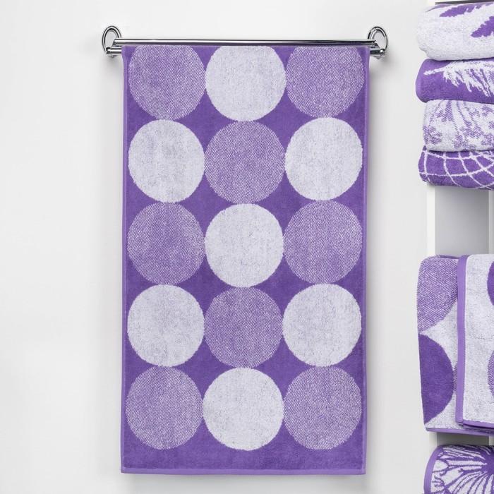 """Полотенце махровое """"Этель"""" Конфетти, цвет ультрафиолет, 70х130 см, 100% хл, 420 г/м²"""