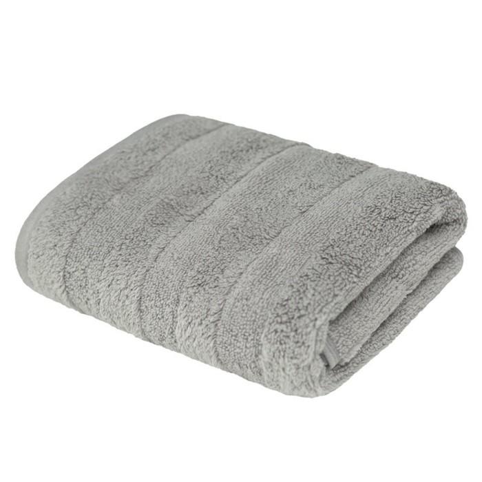 Полотенце  «Авеню», размер 50 × 90 см, махра, цвет серый