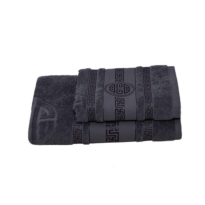 Полотенце махровое Спартак 70х140 +/- 2 см, серый, хлопок 100%, 430г/м2