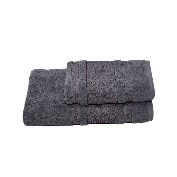 Полотенце махровое Бодринг 70х140 +/- 2 см, серый, хлопок 100%, 430 г/м2