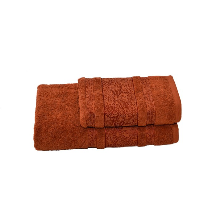Полотенце махровое Бодринг 70х140 +/- 2 см, коричневый, хлопок 100%, 430 г/м2