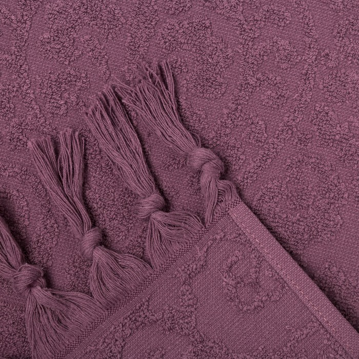 Полотенце махровое BAHAR 70х130 см, слива, хлопок 100%, 380 г/м