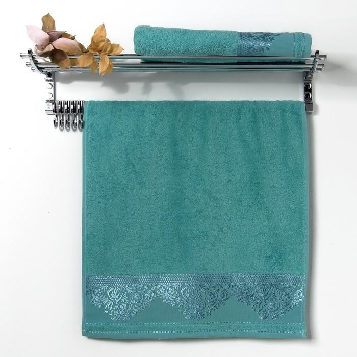 """Полотенце махровое """"Yasemin """" 70х130 см,морская волна,420 гр/м2, хлопок 100%"""