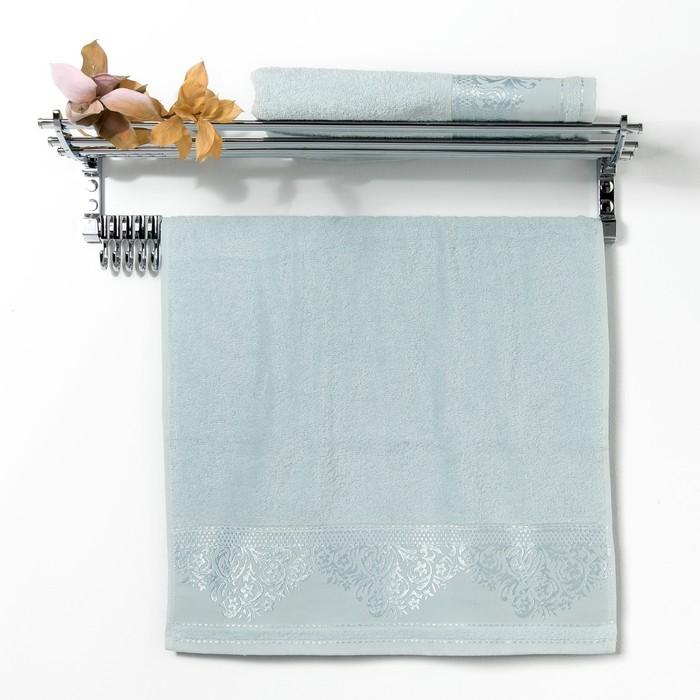 "Полотенце махровое ""Yasemin "" 70х130 см,мятный,420 гр/м2, хлопок 100%"