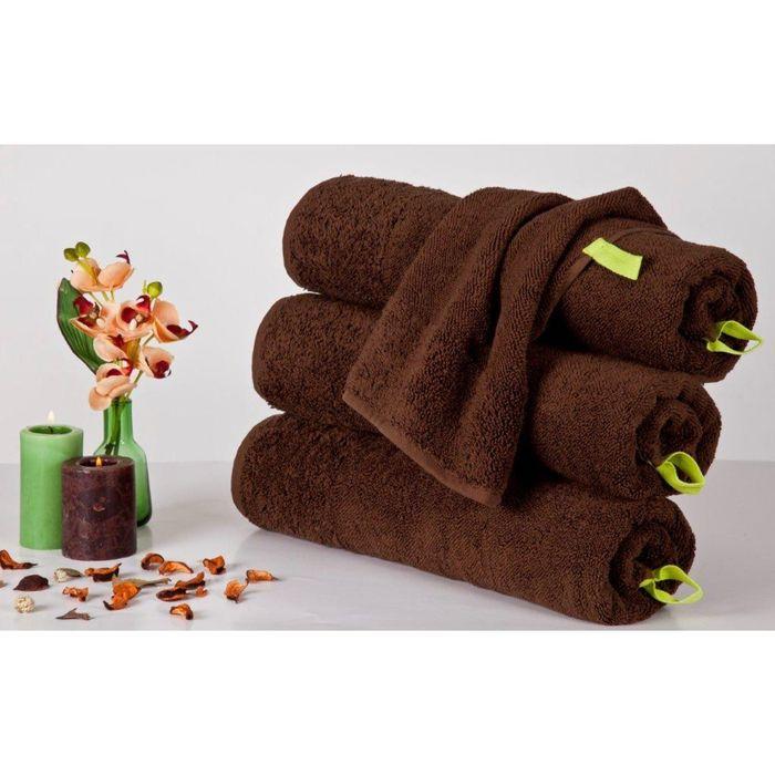 Полотенце Indigo, размер 50 × 90 см, тёмно- коричневый