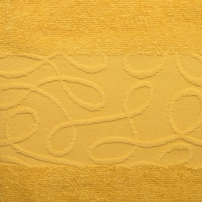 Полотенце махровое SIENA Танаис 70х130 см, желтый, хлопок 100%, 380 г/м2