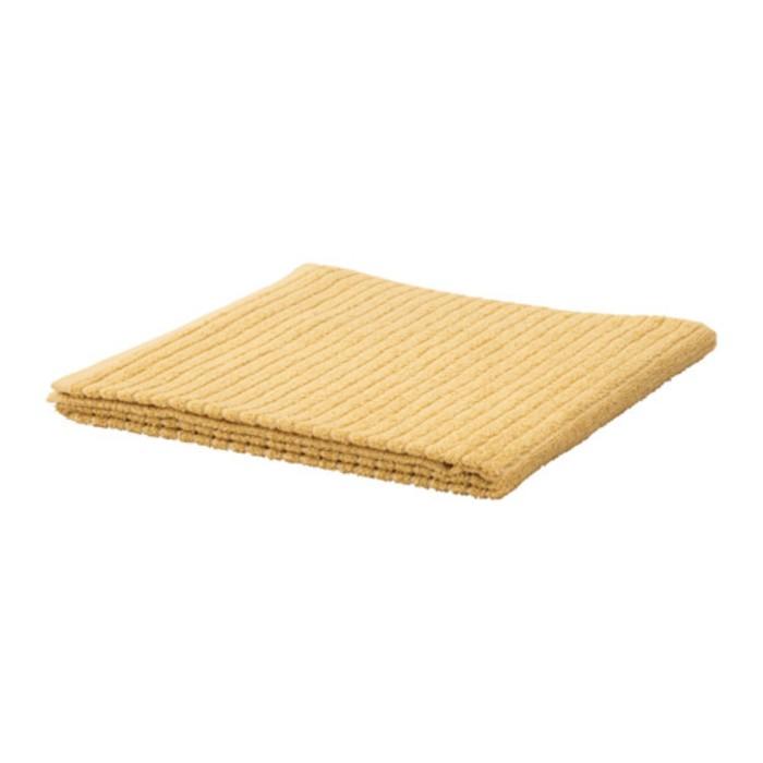Полотенце ВОГШЁН, размер 70 × 140 см, светло-жёлтый