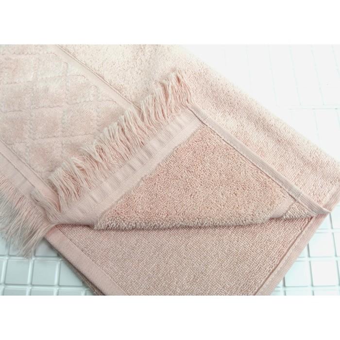 Полотенце махровое Велюр 70х130 см, цвет Розовый, 400 гр/м2