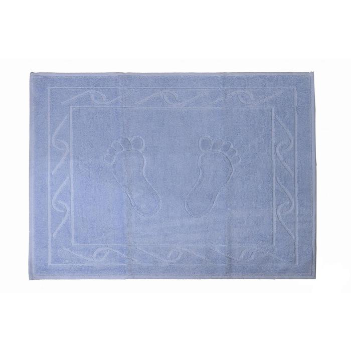 Полотенце для ног Hayal, размер 50 × 70, светло-голубой