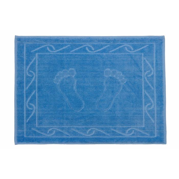 Полотенце для ног Hayal, размер 50 × 70, тёмно-голубой