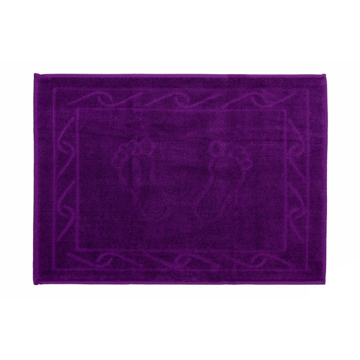 Полотенце для ног Hayal, размер 50 × 70, фиолетовый