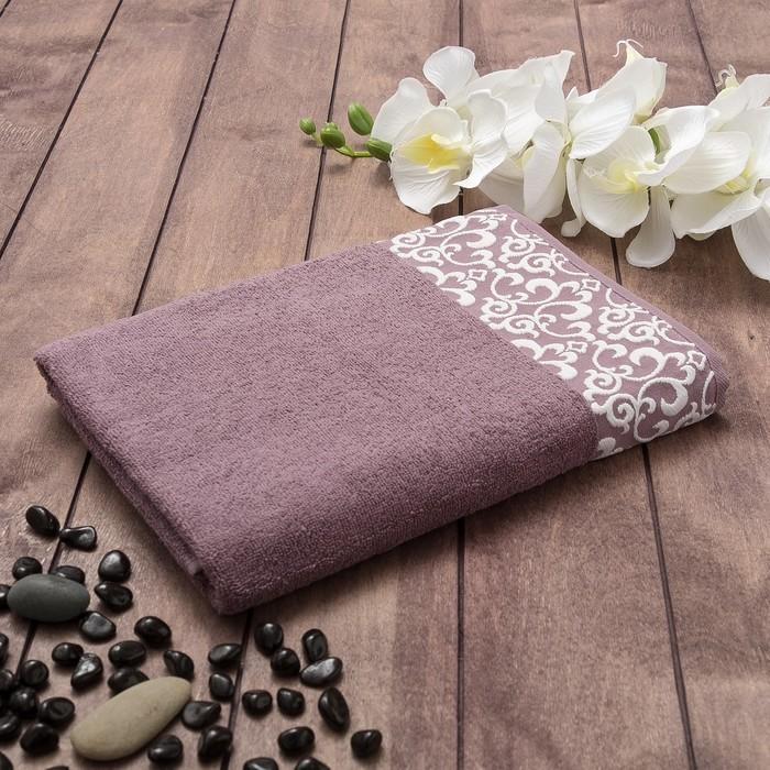 Полотенце махровое AMARETTO Танаис 70х130 см, фиолетовый, хлопок 100%, 380 г/м2