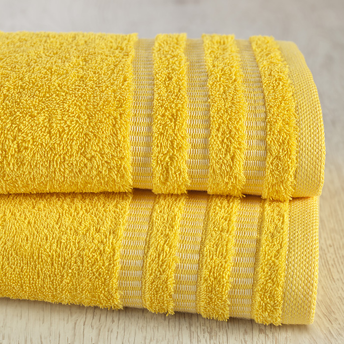 "Полотенце ""Венго"" 70х140 см, желтый, 450 гр/м2, 100 % хлопок"
