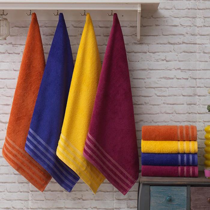 Полотенце Венго 70х140 см, фиолетовый, хлопок 100 %, 450 г/м²