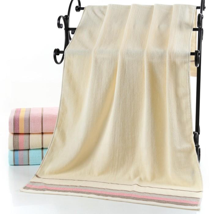 Полотенце махровое «Медовое», 70х140 см, желтое, хлопок