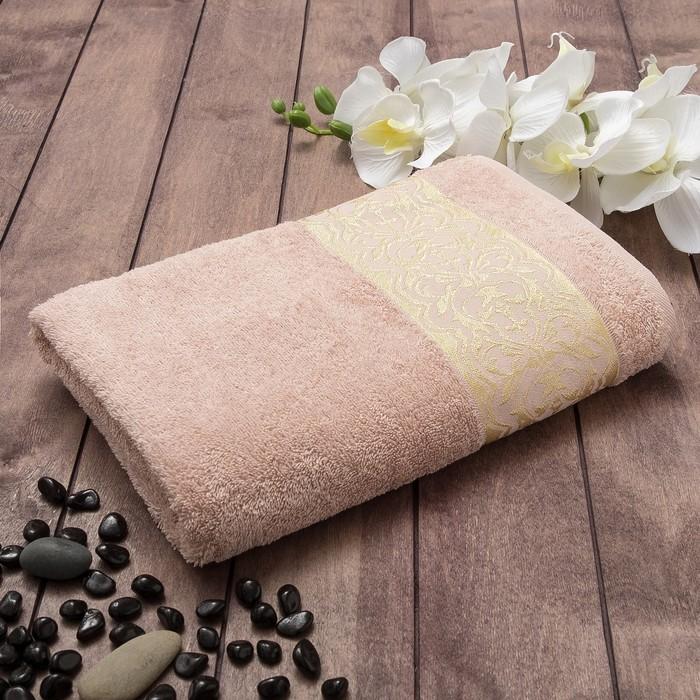 Полотенце махровое CELIN Танаис 70х130 см, бежевый, хлопок 100%, 450 г/м2