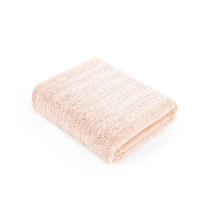 Полотенце Stripe, размер 70 × 140 см, махра, цвет нежно-персиковый