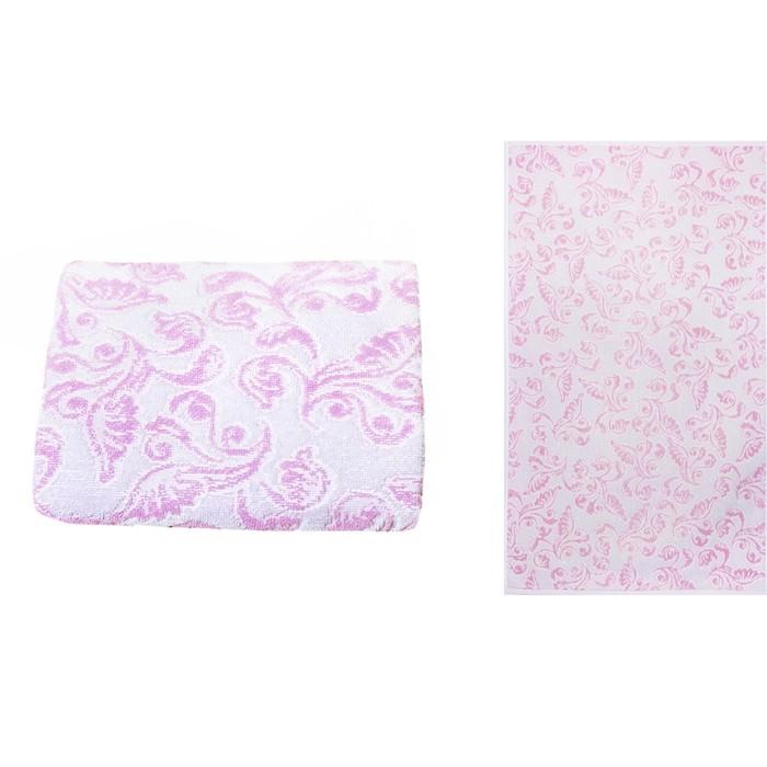 Полотенце махровое Privilea Прованс 70х140 см, розовый, хлопок 100%, 428 г/м2
