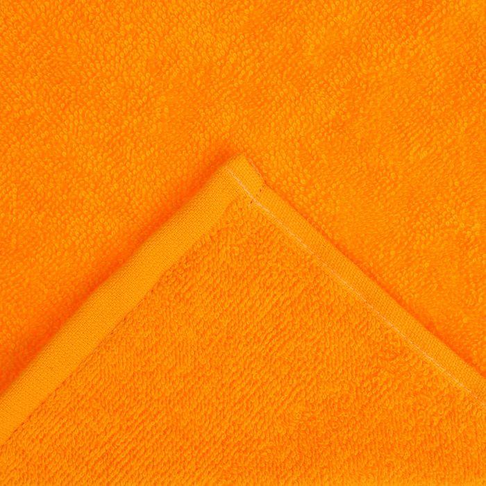"""Полотенце махровое """"Экономь и Я"""" 30х30 см оранжевый, 100% хлопок, 340 г/м2"""