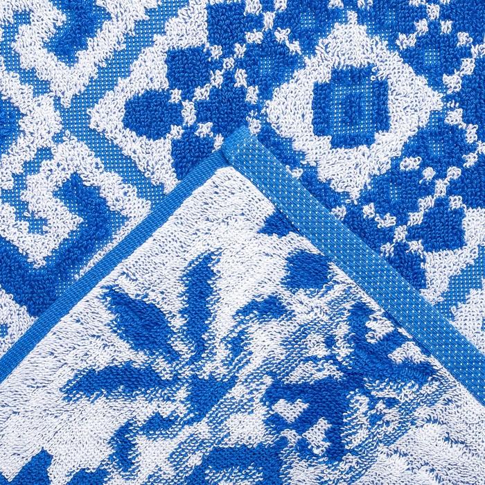 Полотенце махровое Privilea Славянка 70х140 см, синий, хлопок 100%