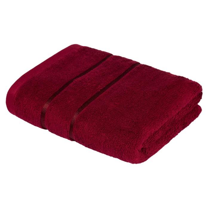 Полотенце «Египетский хлопок», размер 70 × 130 см, бордовый