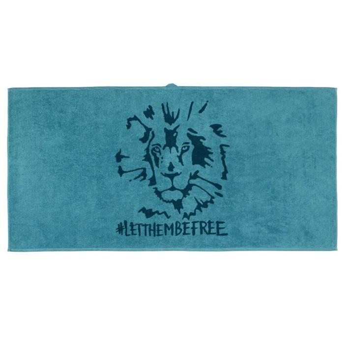 Полотенце УРСКОГ, размер 70 × 140 см, лев, синий