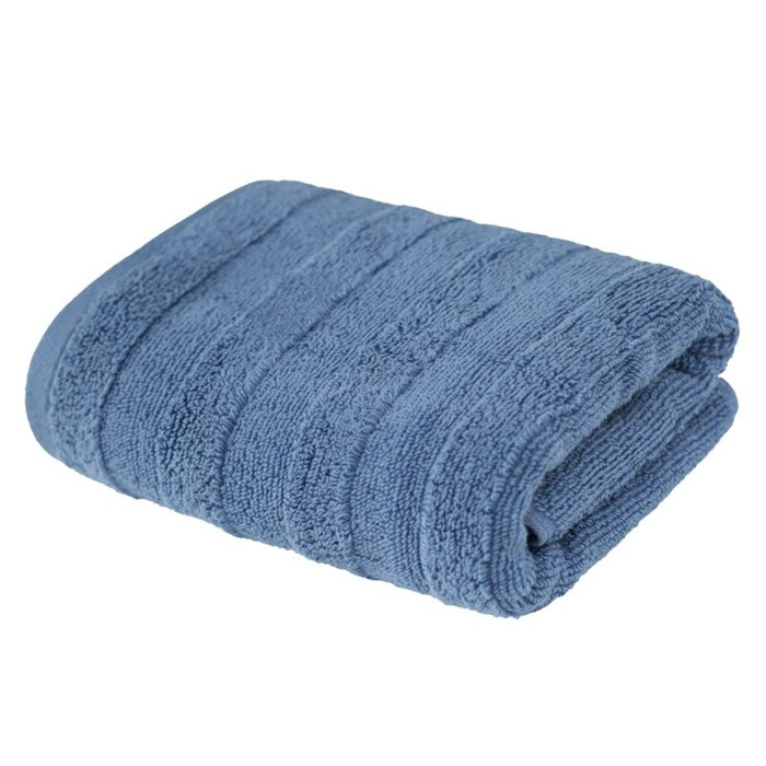 Полотенце «Авеню», размер 70 × 130 см, махра, цвет серо-голубой