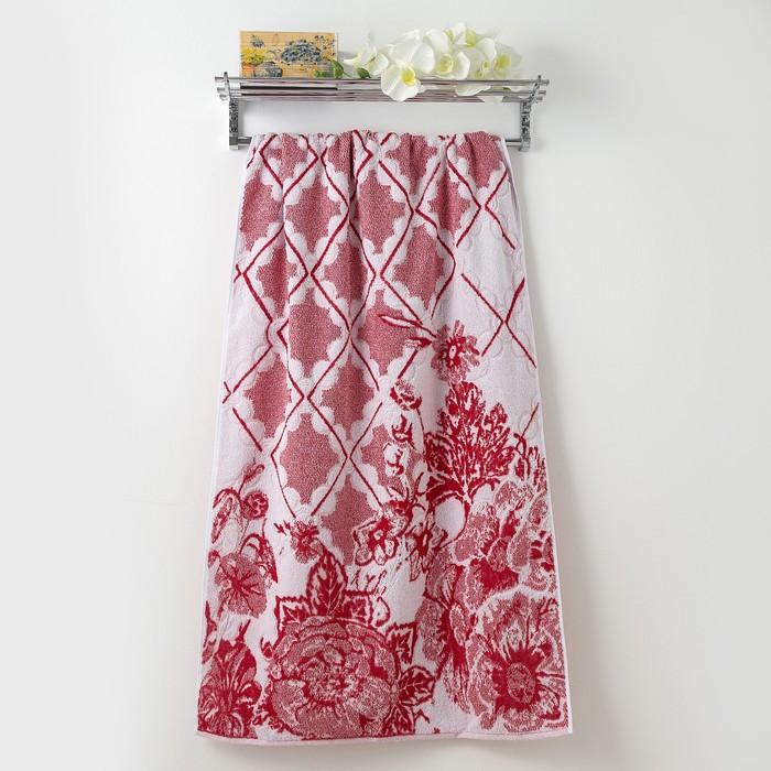 Полотенце махровое Privilea «Шанель», 75х150 см, красный