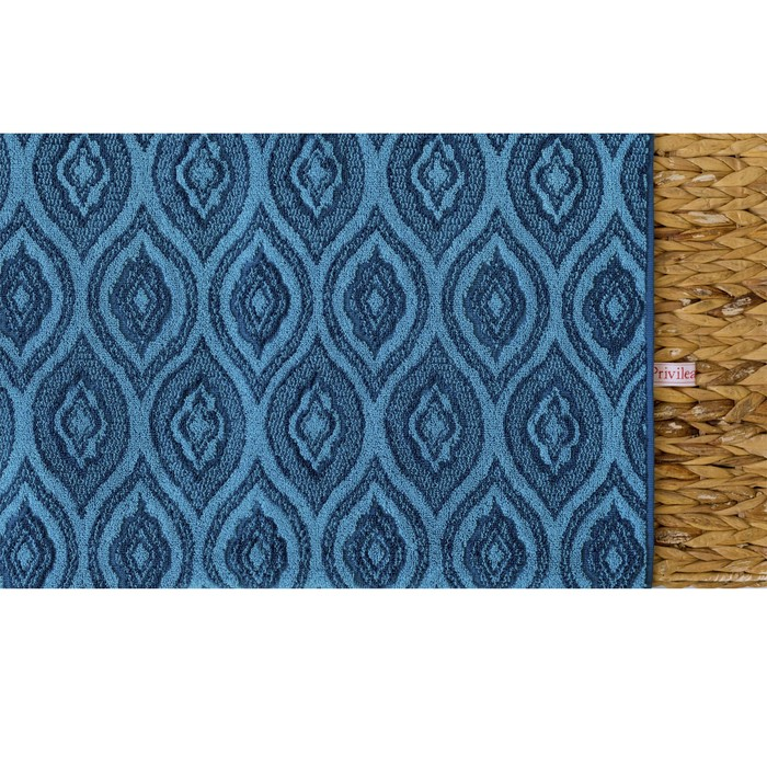 Полотенце махровое Privilea Андромеда 75х150 см, синий, хлопок 100%, 507 г/м2