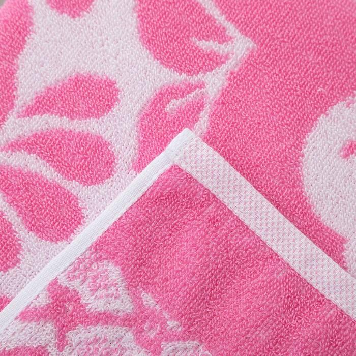 Полотенце махровое Privilеa Узоры 70х140 см, розовый, хлопок 100%