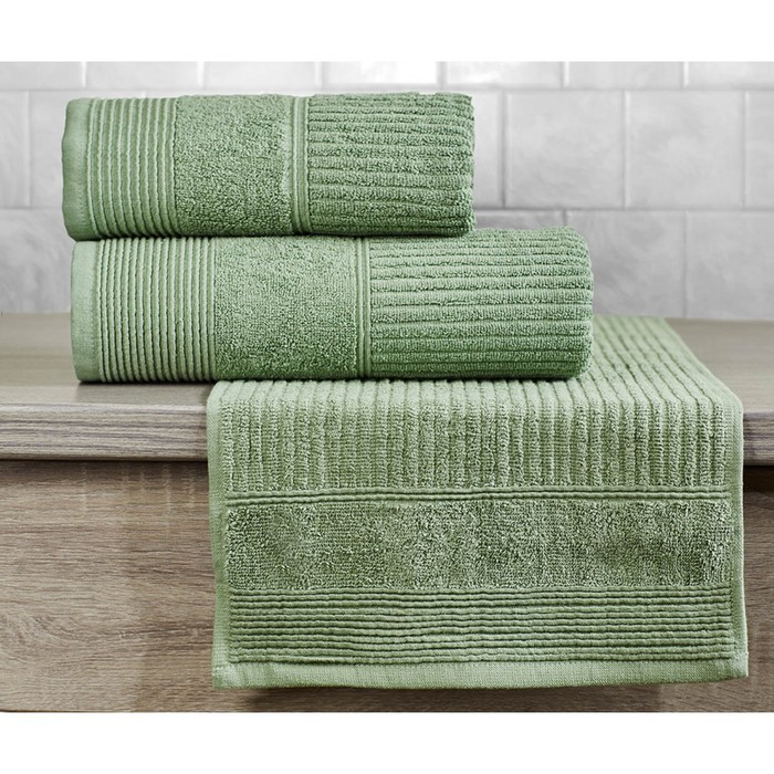 Полотенце «Вита», размер 70 × 140 см, зелёный
