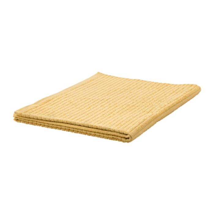 Полотенце ВОГШЁН, размер 100 × 150 см, светло-жёлтый