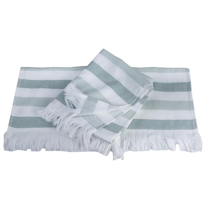 Полотенце Stripe, размер 70 × 140 см, зелёный